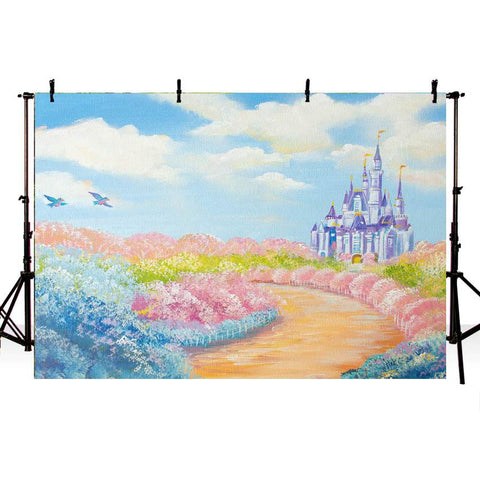 Cartoon Castle Beautiful Background for Decoration NB-353