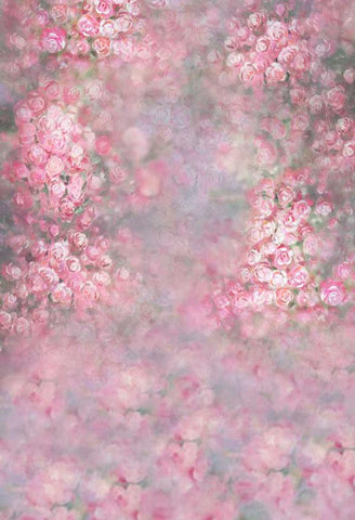 Pink Flowers Blurry  Backdrop for Newborn Children Photography S-100