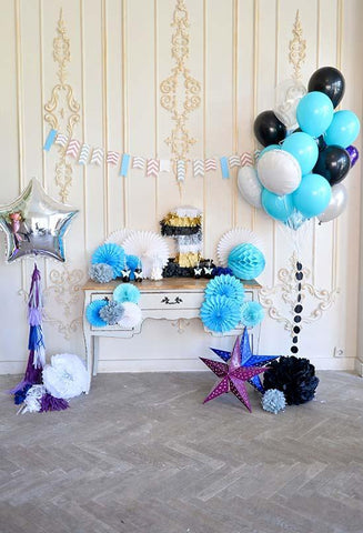 Birthday Party Background Balloons Backdrop Cake Backdrops S-3076