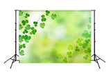 Green Happy St. Patrick's Day Photo Booth Backdrop SH163
