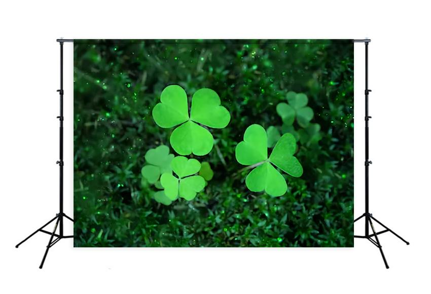 St. Patrick's Day Green Good Luck Backdrop for Party Decorations SH195