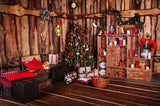 Christmas Decorations Xmas Tree UK Book Shelf Photo Backdrop ST-514