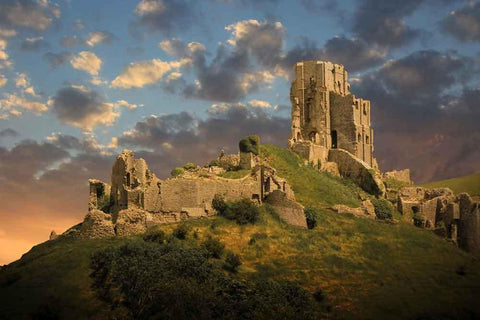 Romantic Fantasy Magical Castle Ruins Photo Backdrop YY00391-E