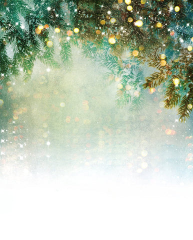 Green Christmas Bokeh Backdrops for Room Decor DBD-P19173