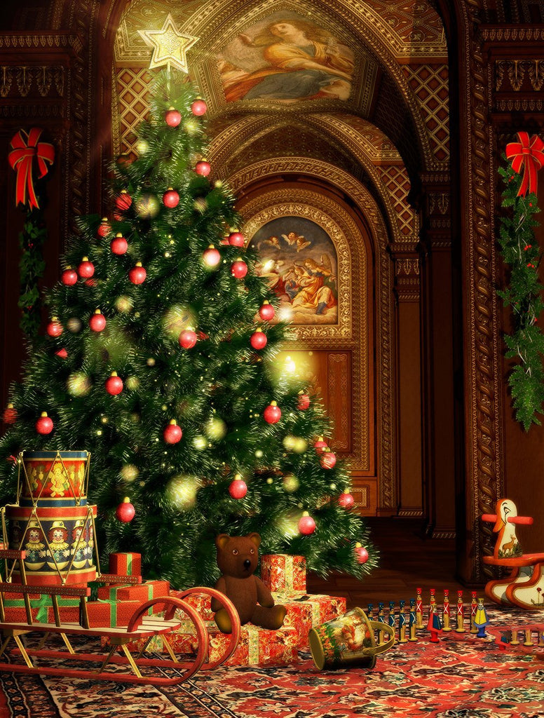 Christmas Tree Decor Backdrop for Party Photography  DBD-P19193