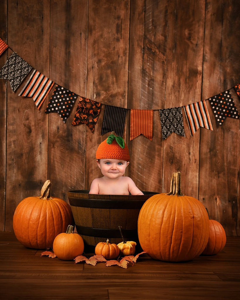 Festival Backdrops Halloween Backdrops Wood and Flag Background Children Background
