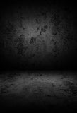 Grunge Black Wall Texture Portrait Photography Backdrop LV-1461