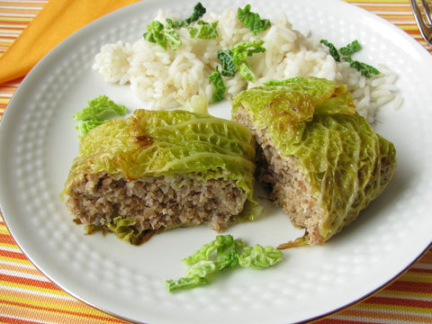 Cabbage parcels with minced meat