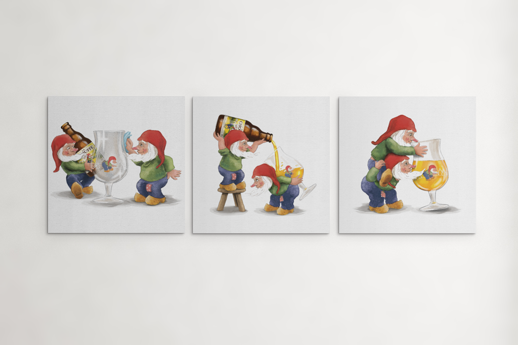 La Chouffe Belgian beer wall art canvases and posters