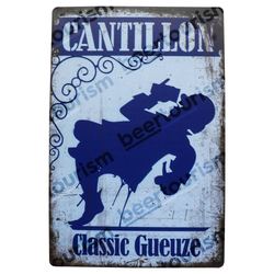 Cantillon Vintage Metal Beer Sign (blue)