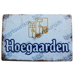 Hoegaarden Vintage Metal Beer Sign