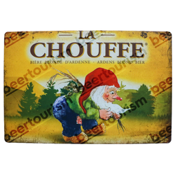 La Chouffe Vintage Look Metal Beer Sign