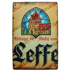 Abbaye de Leffe Vintage Look Metal Beer Sign