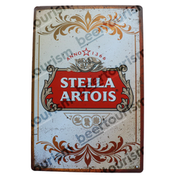 Stella Artois Vintage Look Metal Beer Sign
