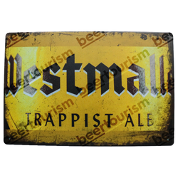 Westmalle Trappist Ale Vintage Look Metal Beer Sign