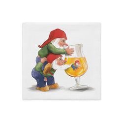 Double sided La Chouffe gnomes pillow case