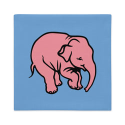 Pink Elephant Delirium pillow case