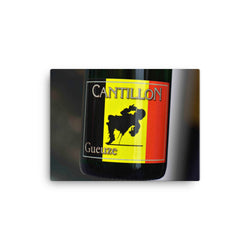 Cantillon gueuze label close up on canvas print