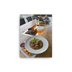Westmalle Tripel with Game Ragout Canvas Print