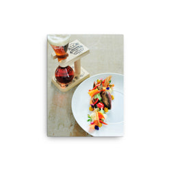 Pauwel Kwak glass and holder with food pairing - on a canvas print