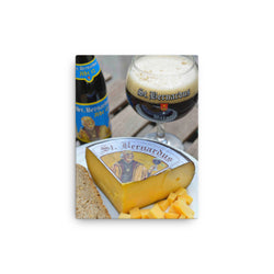 The best of Belgium - St Bernadus and cheese photo on a canvas print