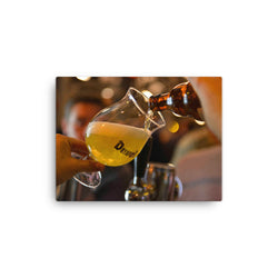 Perfectly serving a Duvel beer in canvas print