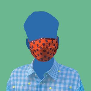 Orange with Chocolate Dots Mask