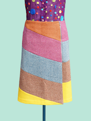 Wool Panels-  Wrap Skirt