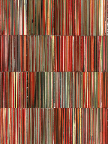 TJ Bateson - Linear, 16 Panels Red