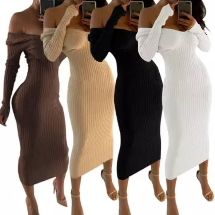 Sweater Ribbed Dress