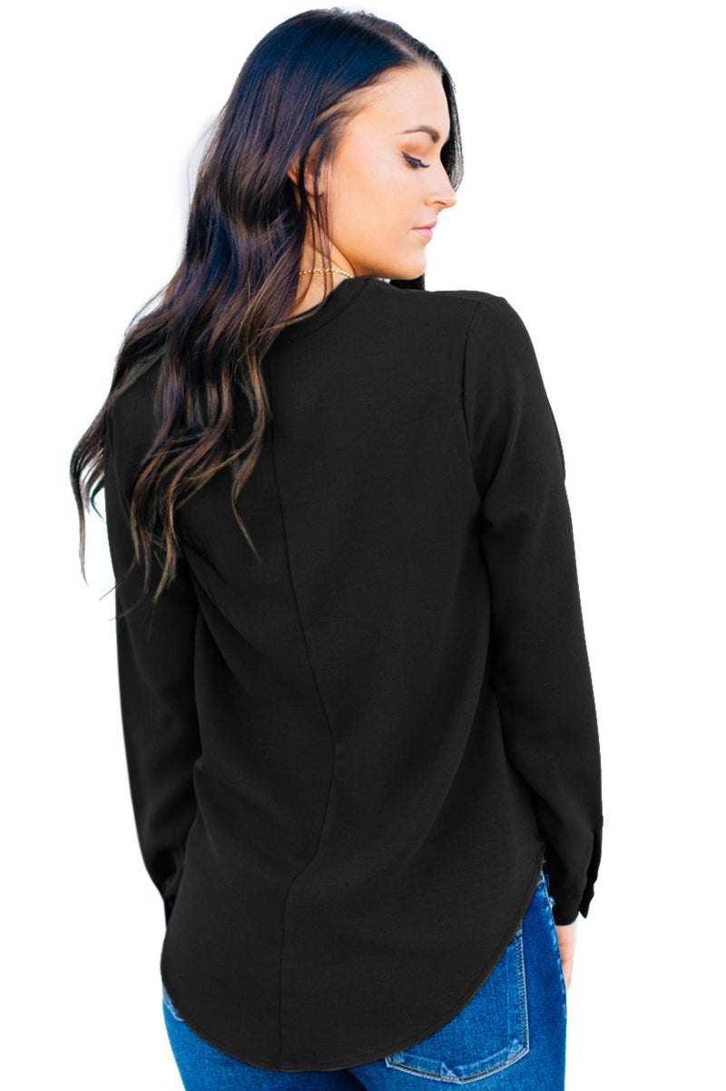 Surplice Button Trio Top - GHA Discount