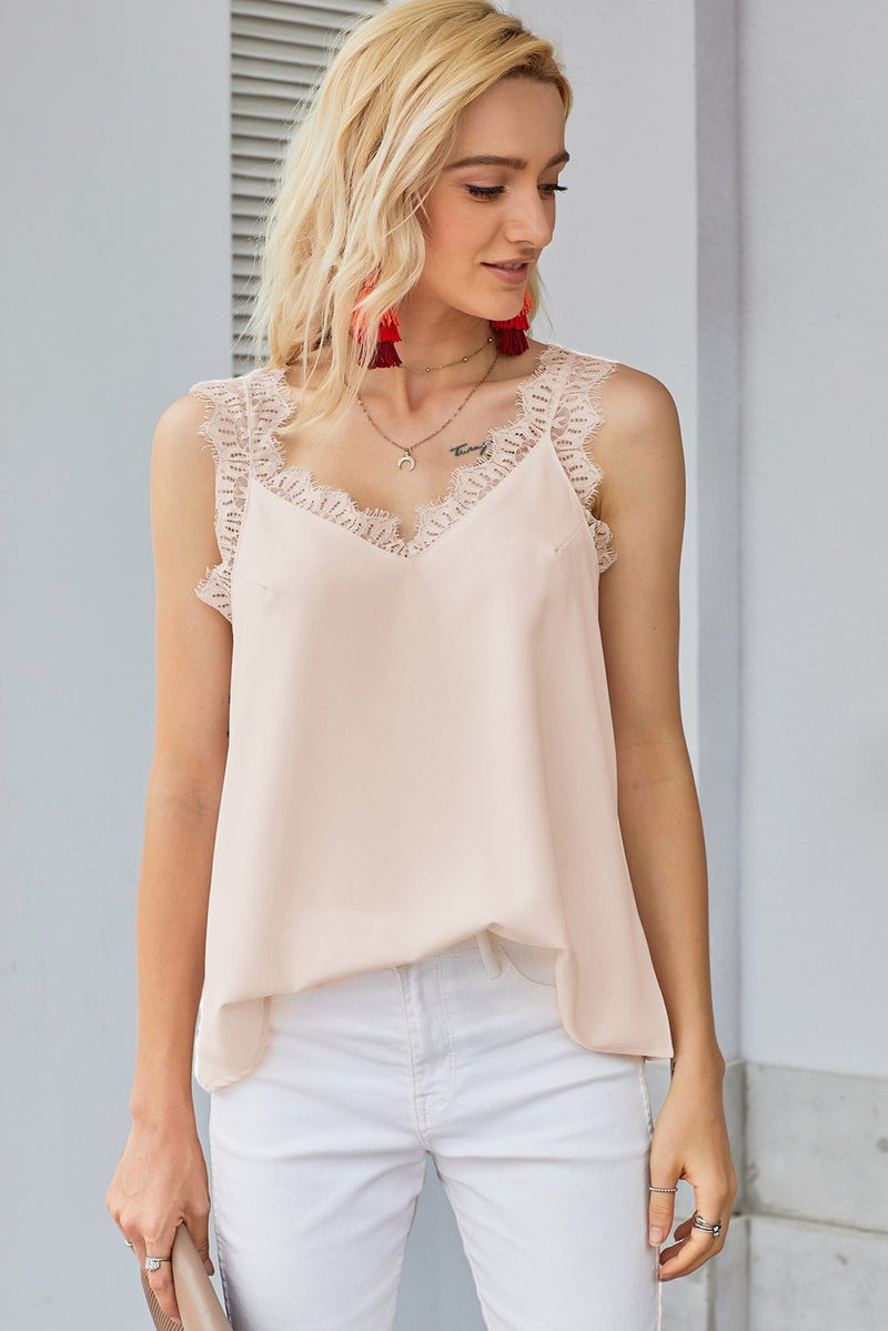 Apricot Facade Lace Cami Tank Top - GHA Discount