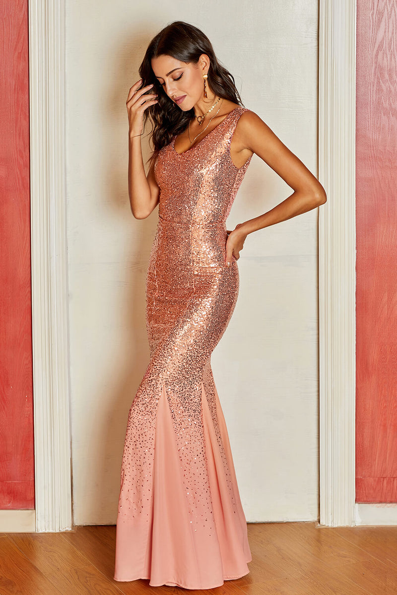 Oscar Night Sequin Maxi Dress - GHA Discount