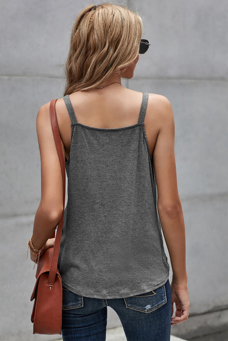 Gray Wrap Front Tank Top - GHA Discount