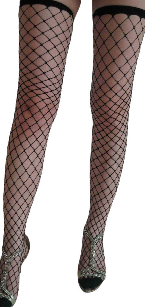 Fence Net Thigh High Stockings - GHA Discount