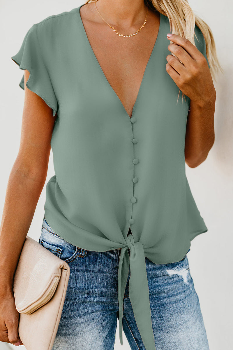 Button Down Tie Top - GHA Discount
