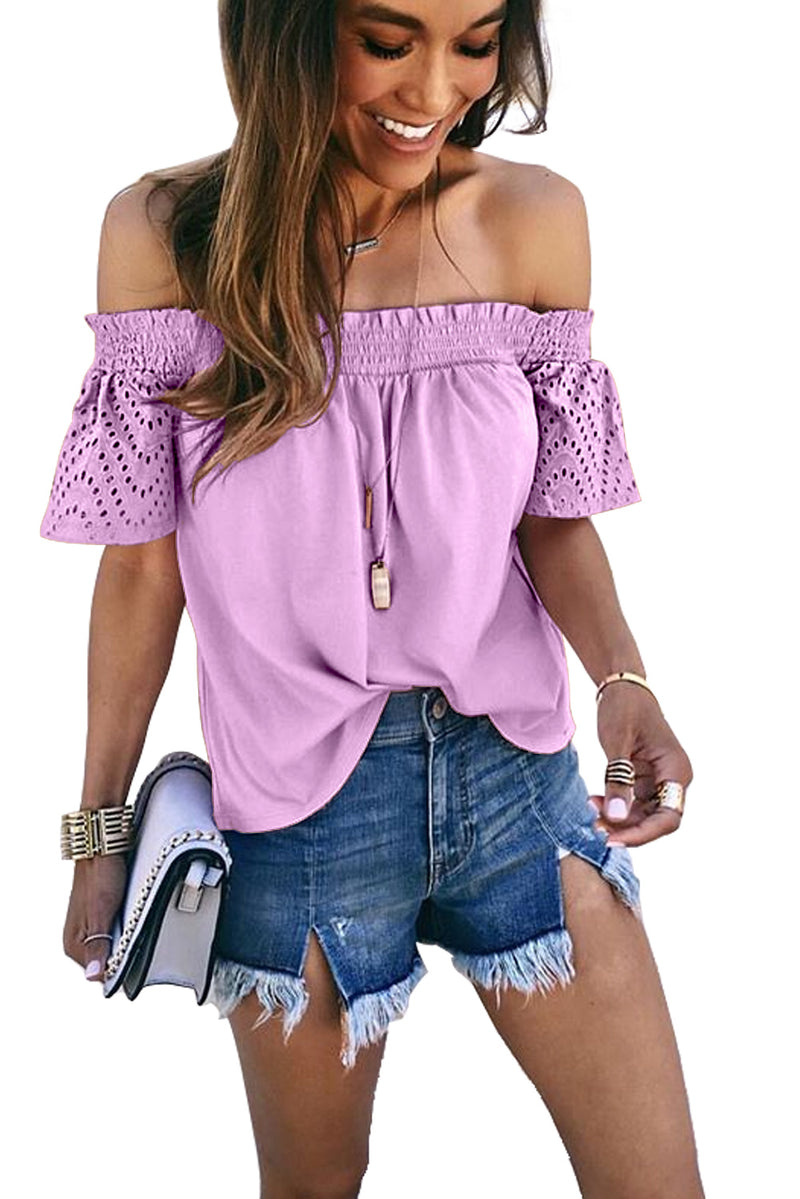 Off Shoulder Hollow out Top - GHA Discount
