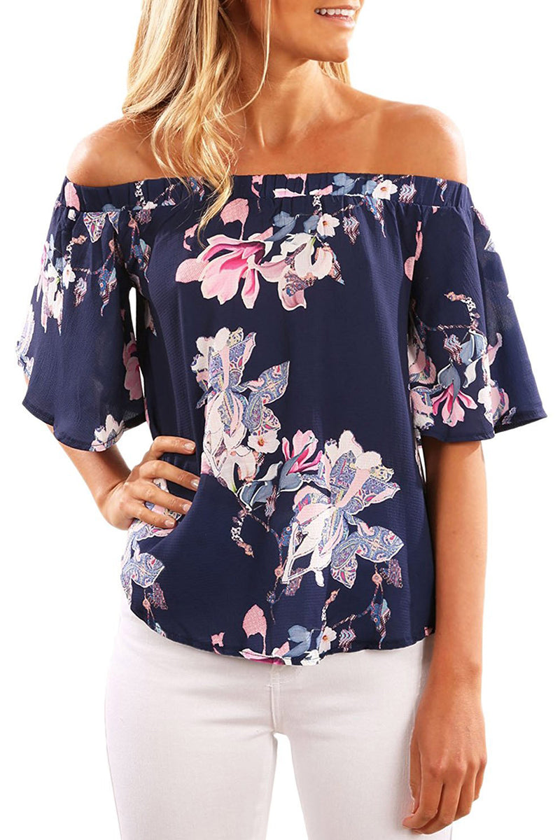 Half Sleeve Off Shoulder Blouse - GHA Discount