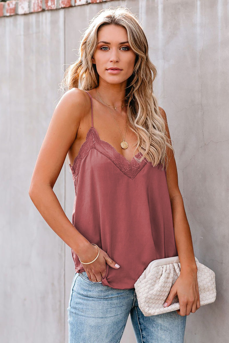 Delicate Balance Lace Cami Tank - GHA Discount