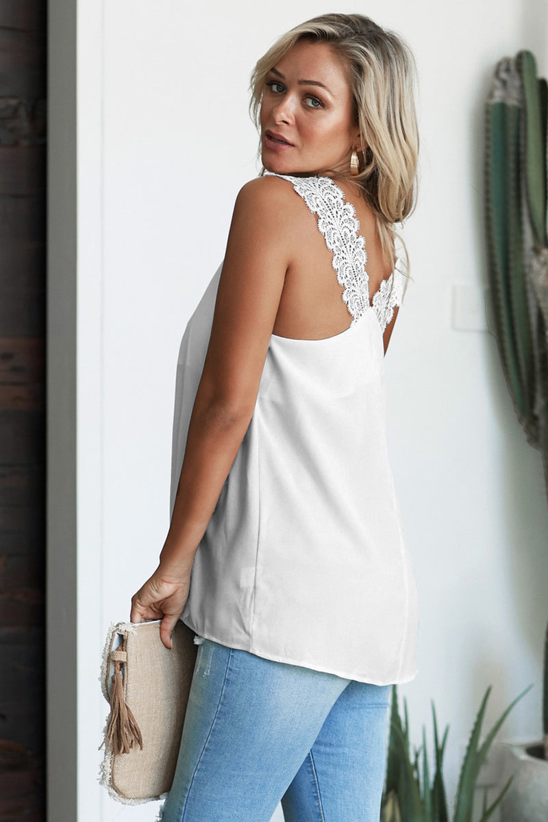White Like An Angel Lace Cami Tank - GHA Discount