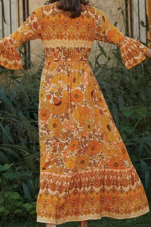 Orange Lady Love Maxi Dress - GHA Discount