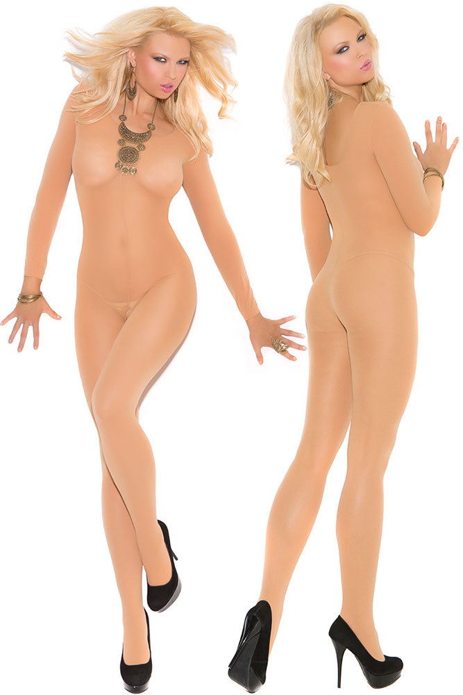 Nude Foxy Babe Long Sleeve Bodystocking - GHA Discount