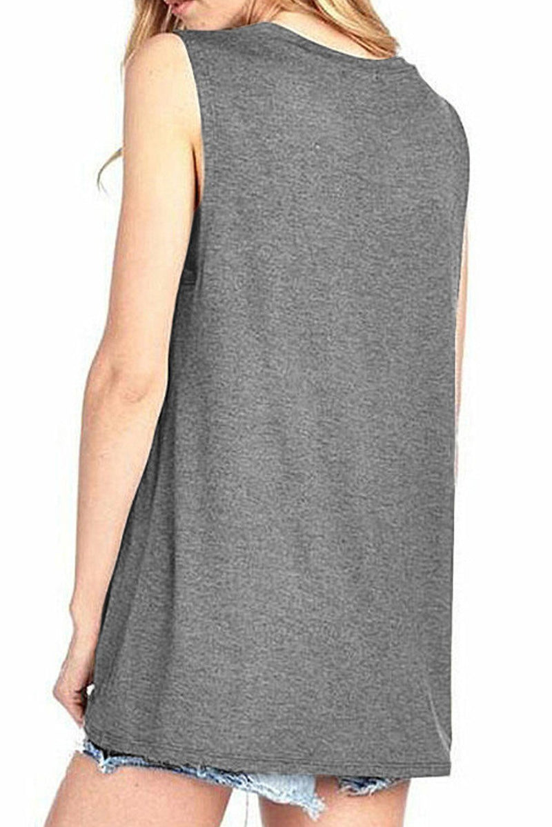 Beer Me Casual Gray Tank - GHA Discount