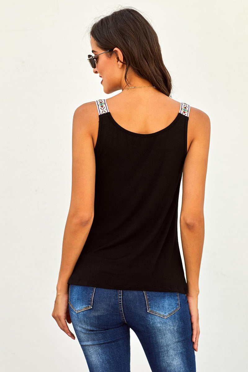 Black Somewhere Next To You Twist Tank Top - GHA Discount