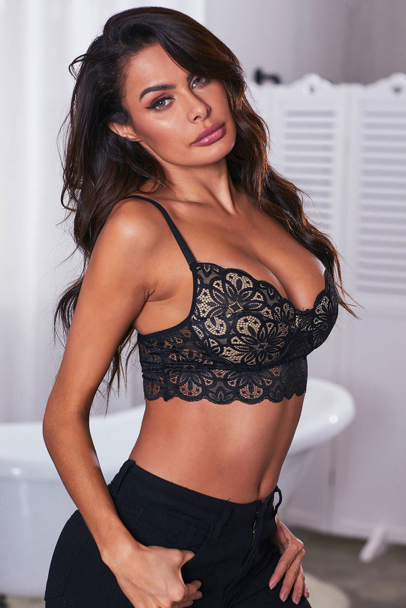 Black Fun Lace Bralette - GHA Discount