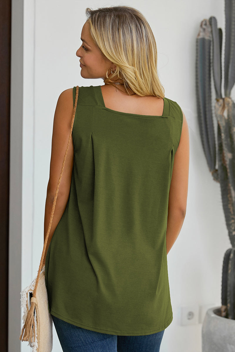 Green When In Doubt Relaxed Tank Top - GHA Discount