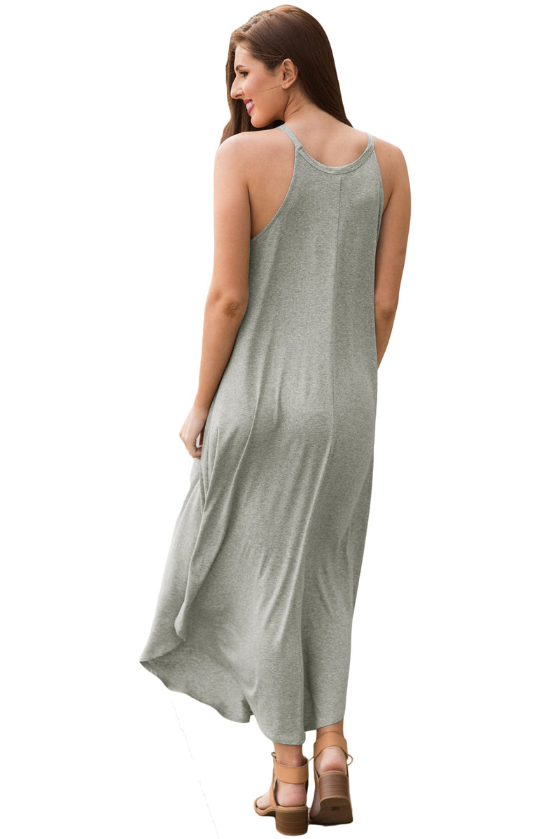 Sexy Summer Tank Maxi Dress in Gray - GHA Discount