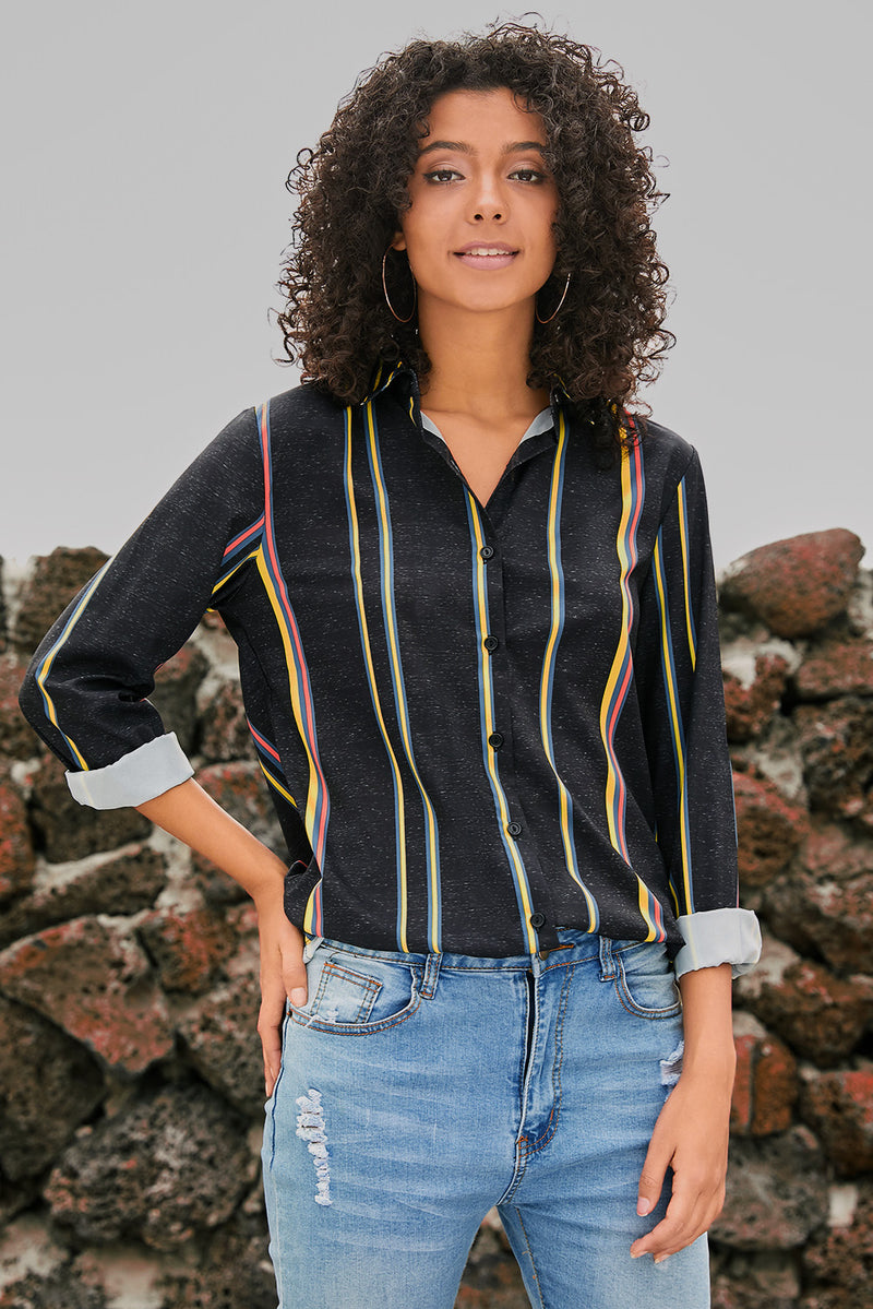 Striped Modern Women Shirt - GHA Discount