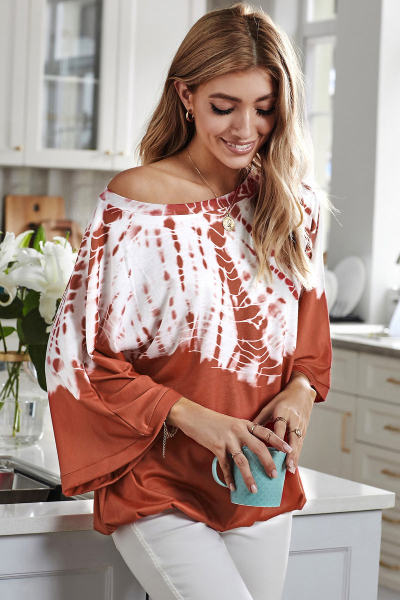 Long Batwing Sleeve Loose Casual Blouse - GHA Discount