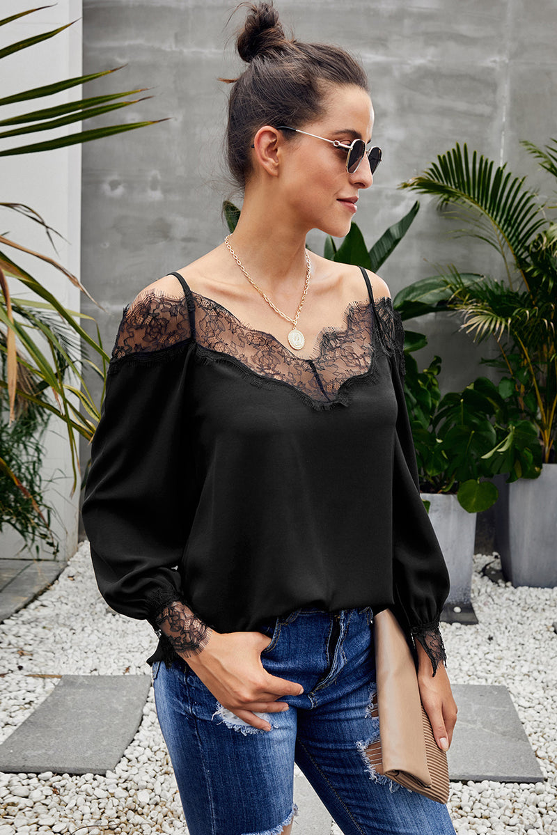 Cold Shoulder Blouse - GHA Discount